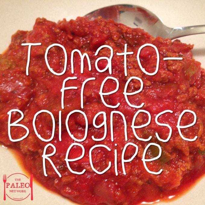 Tomato-Free Bolognese Recipe paleo diet dinner lunch spaghetti-min