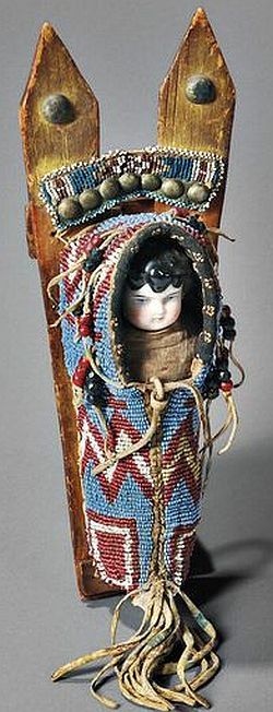 Kiowa Beaded Toy Cradle, c. last quarter 19th century.