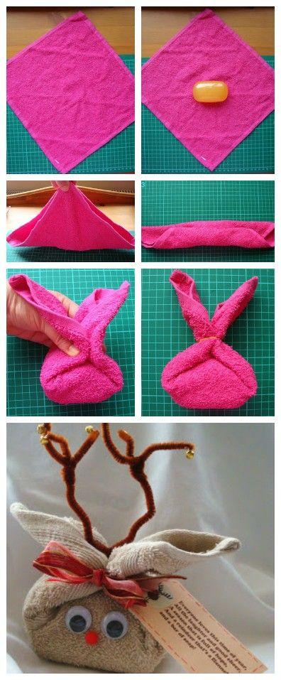 Christmas Soap Reindeer Gift Idea