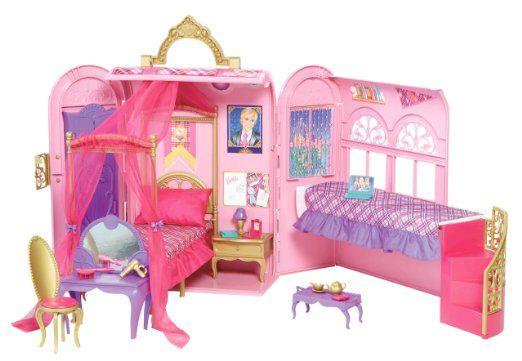 Mattel V6823 - Barbie Prinzessinnen-Schlafzimmer und Bad: Amazon.de: Spielzeug