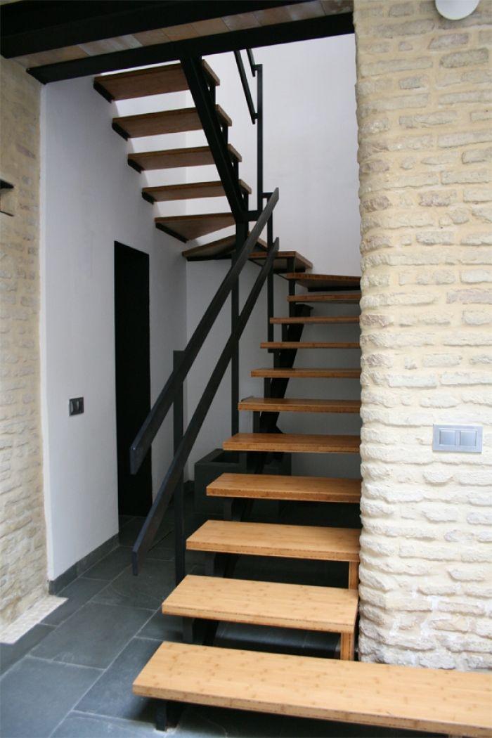 Las 25 mejores ideas sobre escaleras de bamb en for Ideas para escaleras