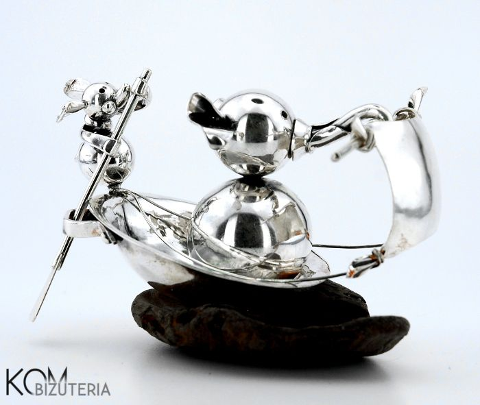 Silver sailor - silver statue from KOM Bizuteria collection