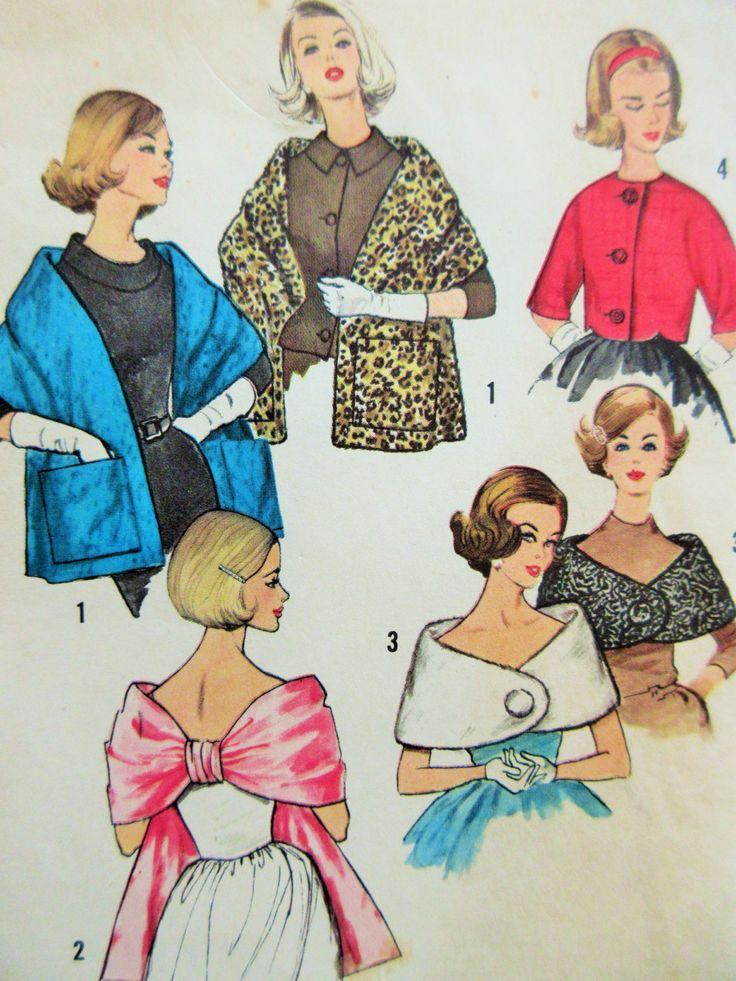 Vintage Simplicity 4216 Sewing Pattern, 1960s Stole Pattern, Capelet Pattern, Bust 34, Evening Wrap Pattern, 1960s Sewing Pattern, Jacket by sewbettyanddot on Etsy