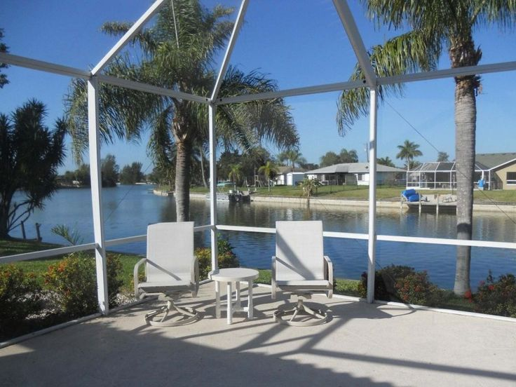 Cape Coral house rental - Relaxing Lanai overlooking the fresh water canal