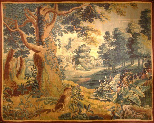 16th Century Flemish Verdure. Antique Tapestry, Flemish.
