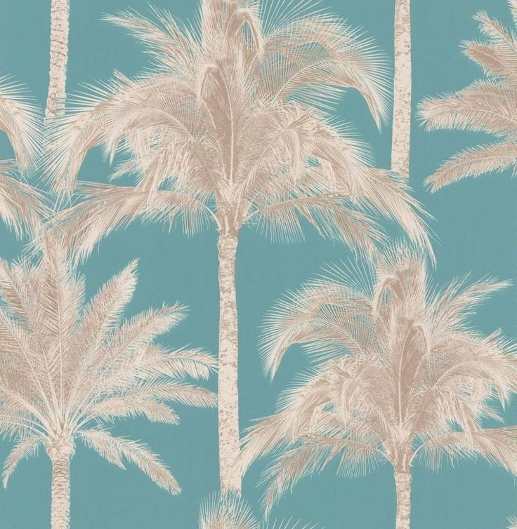 """An all over wallcovering design featuring exotic palm trees. Shown here in the coral pink colourway. Other colourways are available. Please request a sample for a true colour match. Repeat - 8.9"""""""