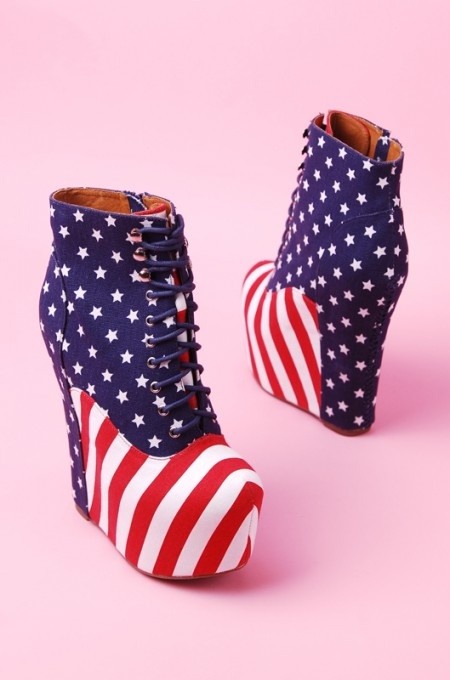 Jeffrey Campbell Damsel in Stars and Stripes | shopakira
