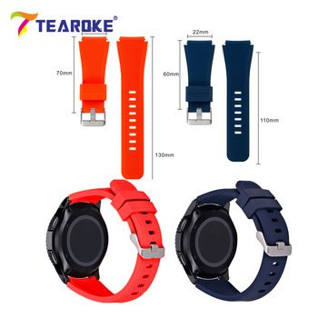 TEAROKE 11 Color Silicone Watchband for Gear S3 Classic/ Frontier 22mm Watch Band Strap Replacement Bracelet for Samsung Gear S3  Price: 1.76 USD