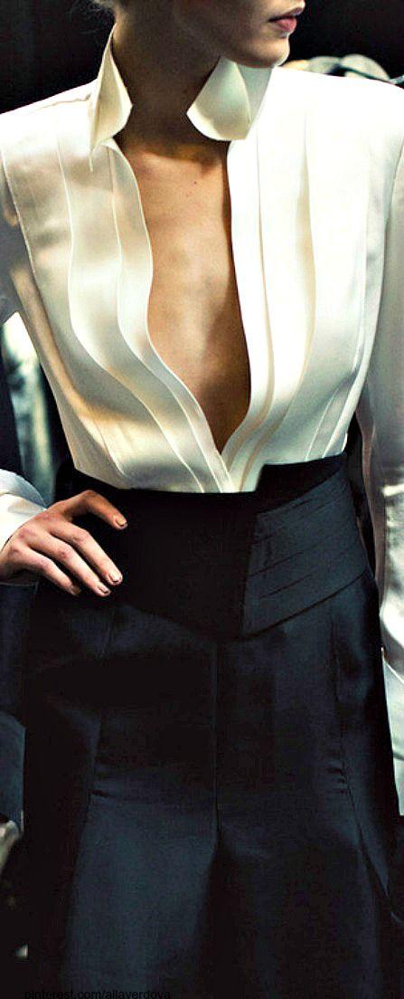 ~Carolina Herrera ~ white shirt | The House of Beccaria