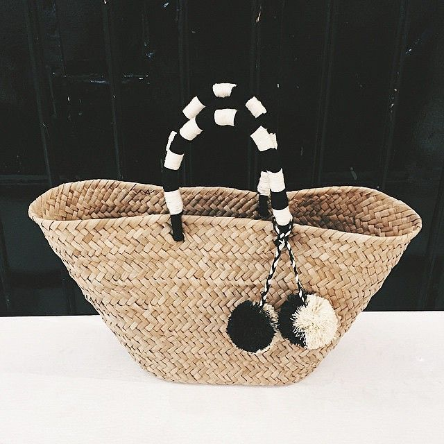 This @kayudesign bag is made of natural seagrass and also travels well. #instoresonly