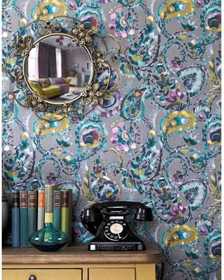 яркие #обои @voyage_deco для тех, кому надоела #зима! #voyagedecoration #НОВИНКИ #galleria_arben #wallpaper #decor