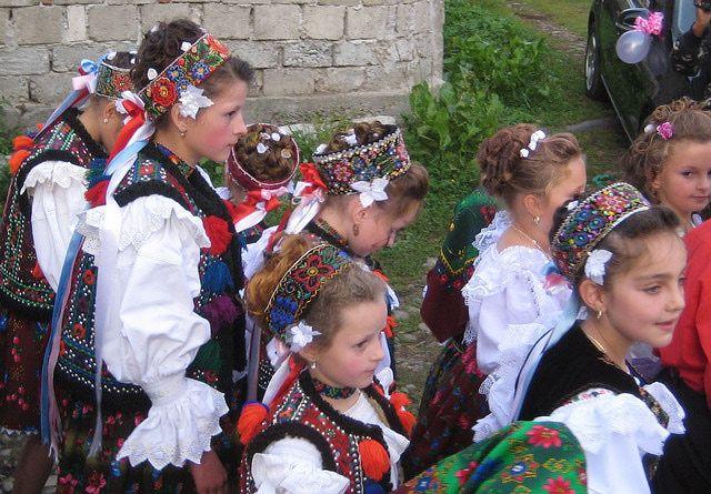 Girls National Romanian Folk Dress - CC BY-NC Basil & Tracy