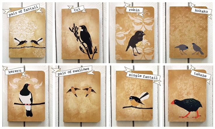 Bird Themed Lined Notebook