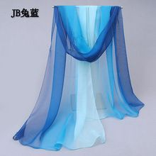 2015 модный теплые мягкие леди desigual шарф аксессуары постепенное цвета жоржет шелковые шарфы платок шарф женщин подарок(China (Mainland))