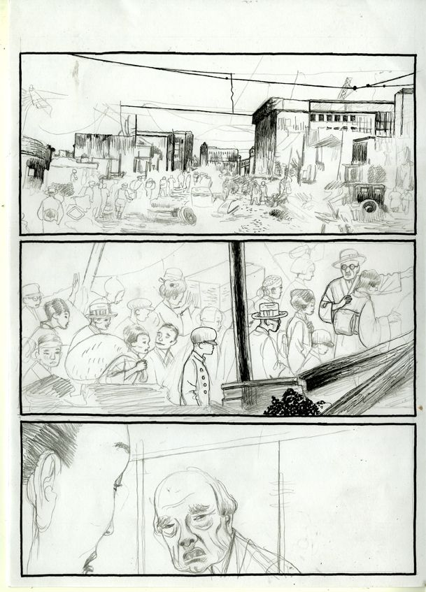 Storyboard for Japanese notebooks. Abe Sada Story. Capitana july 2014.