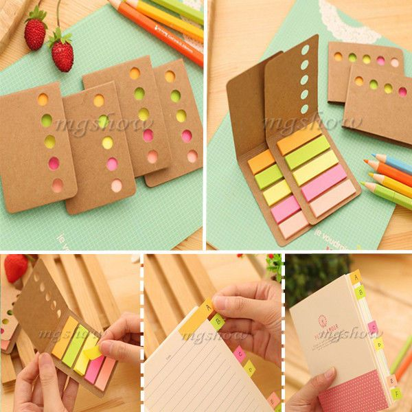 5pcs 1200 Sticker Post It Flags Bookmark Page Marker Memo Index Sticky Tab Notes