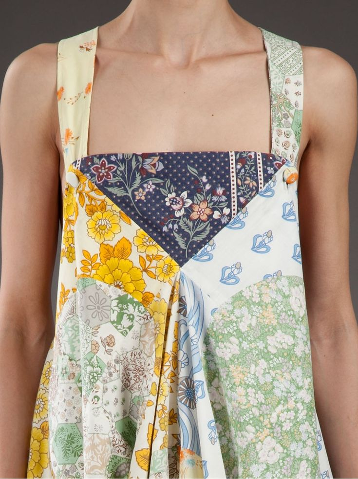 Lu Flux Patchwork Apron Dress - - Farfetch.com -- I LOVE the way the colors come together in this! fran