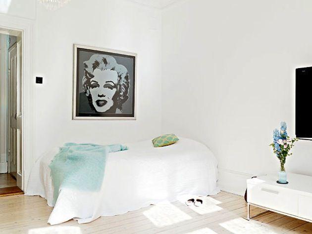 Оформление стен в скандинавской спальне #scandinavianinterior #homedecor