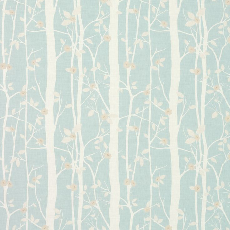 Laura Ashley Fabric - Cottonwood Duck Egg Floral Cotton