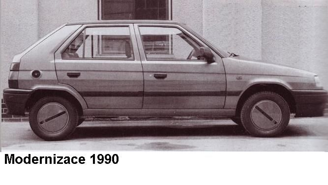 OG | 1992 Škoda Favorit | Facelift proposal from 1990
