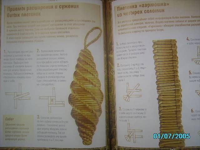 Иллюстрация № 2 к книге Плетение из соломки: Техника. Приемы. Изделия, фотография, изображение, картинка