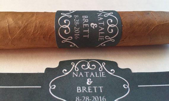 Cigar Bar Label Wedding Cigar Label Cigar Bar by NMTMdesigns