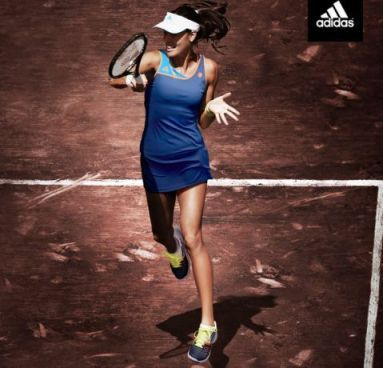 Adidas launches promo photo of Ana Ivanovic in her new Adidas dress for the 2014 French Open: http://www.womenstennisblog.com/2014/04/08/adidas-makes-official-ana-ivanovics-dress-french-open-2014/