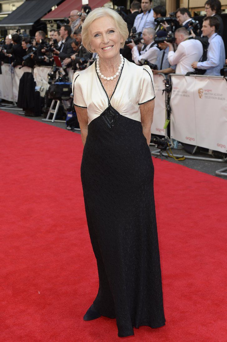 Pin for Later: Red Carpet Recap: What Everyone Wore to the 2014 TV BAFTAs Mary Berry