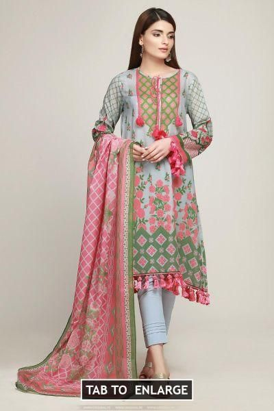 f601fbfaba Khaadi Lawn Volume 1 Bf19104 Grey Price in Pakistan famous brand online  shopping, luxury embroidered suit now in buy online & shipping wide nation.