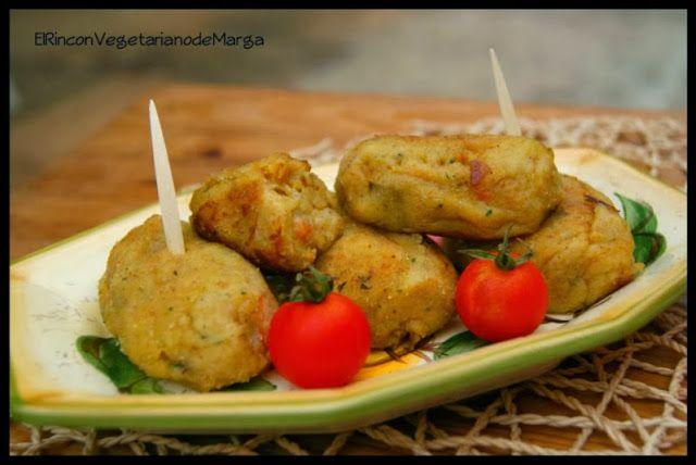 * El Rincón Vegetariano de Marga *: Croquetas de calabaza y puerro