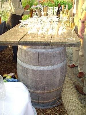 HOUSE of HACKETT: Wine Country Wedding - wine barrel bar