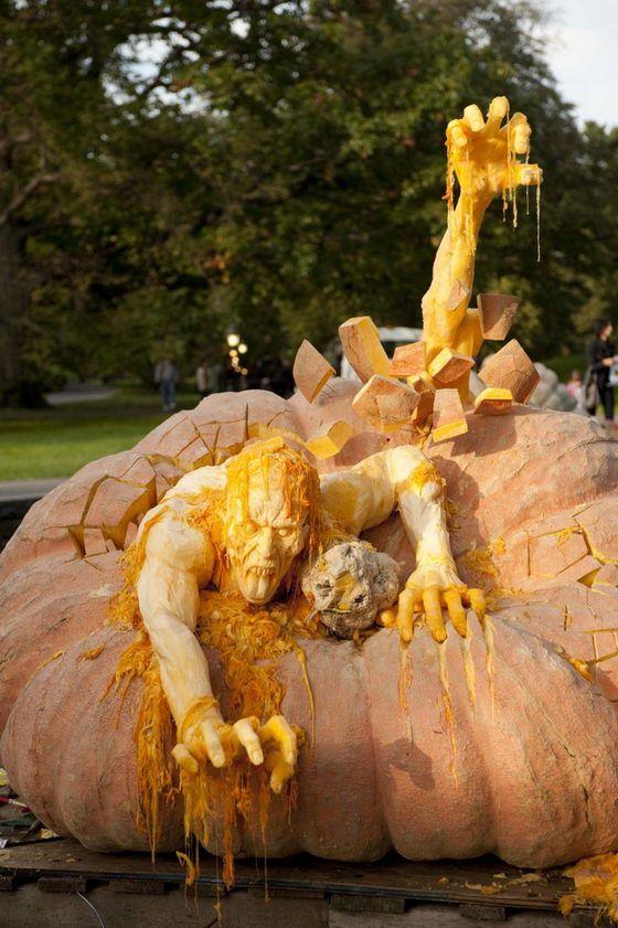 pumpkin sculpture by Ray Villafane