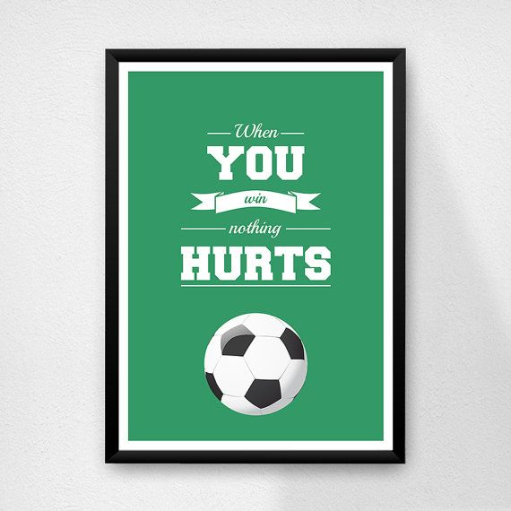 #goal #typography #walldecor #inspirationaquotes #printposter  Etsy listing at https://www.etsy.com/listing/180579350/quote-poster-print-when-you-win-nothing