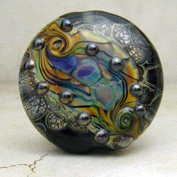Handmade Lampwork Glass Bead  Black by StoneDesignsbySheila, $28.00