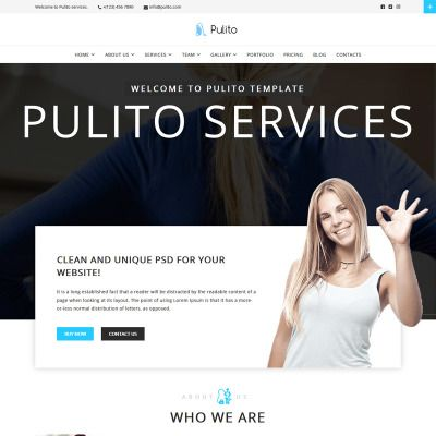 Pulito Cleaning Services Wordpress Theme Website Templates