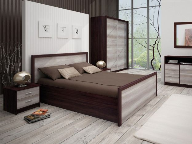 Manželská posteľ 160 cm - Tempo Kondela - Flamengo (s roštom a úl. priestorom)