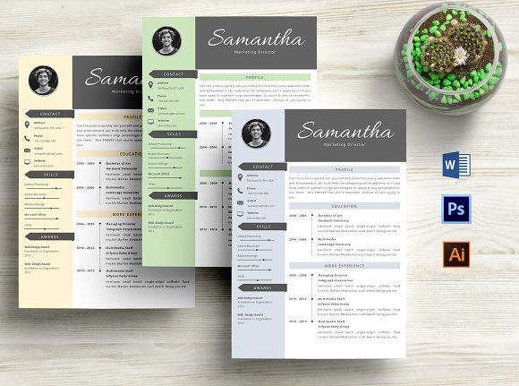 3 in 1 Resume Template - 3 page resume template 1 cover letter template Fonts link included Guide File: PDF 150+ Extra Icons Editable Format for download: ZIP Format: MS Word File Templates work with MS Word: 2007/2008|2010/2011|2013|2016| or later on PC & MAC Fast and friendly customer service1 instructional FAQ/Help pdf A list of all the necessary free fonts, plus links to download Customer support. Need help? Drop us a message!  @creativework247
