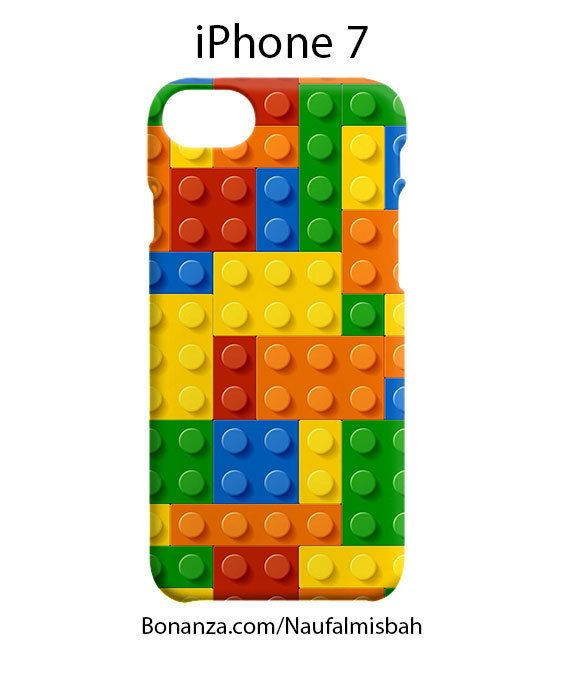 Lego Colourful Bricks iPhone 7 Case Cover Wrap Around