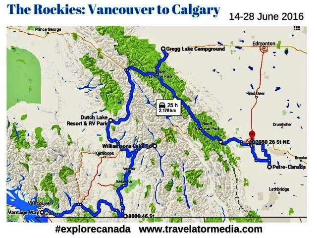 Map Of Canada Vancouver To Calgary.Top Tips For Your Rv Motorhome Road Trip In Canada Rv Time