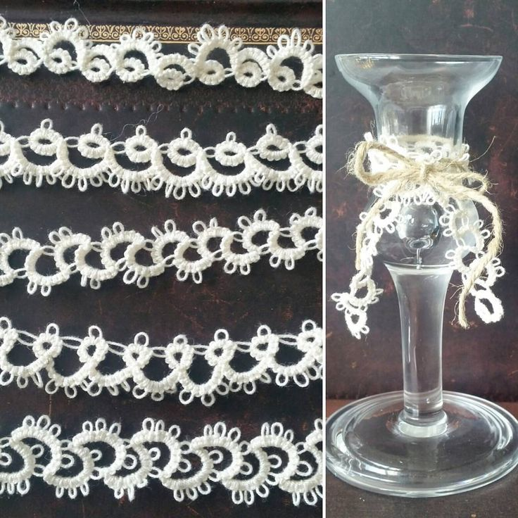 Tatted lace trims