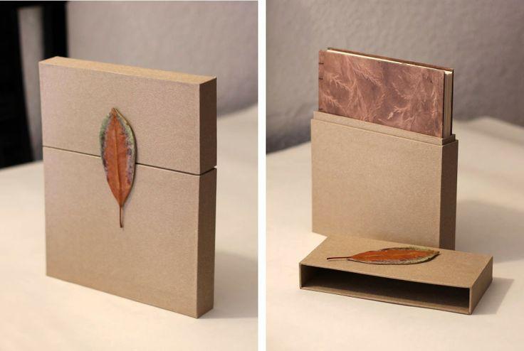 Libro con encuadernación copta con caja de cierre de imán. @cristinallopart