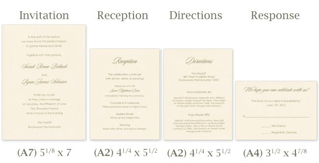 Designed with traditional taste in mind, this Delicate Tissue Wrapped Invitation Ensemble is a simple combination of four classic linen cards all wrapped up in soft, elegant Japanese tissue paper. This timeless design is not just simple in elements, but in assembly as well. In the tutorial below, we have provided you with printing templates for the four cards that make up this classic ensemble - invitation, reception, directions, response.