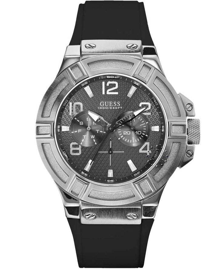 GUESS Gents Black Rubber Strap Μοντέλο: W0247G4 Η τιμή μας: 160€ http://www.oroloi.gr/product_info.php?products_id=36753