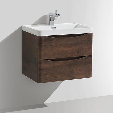 Ronda Chestnut 600mm Wide Wall Mounted Vanity Unit. love the tap too but crackers expensive