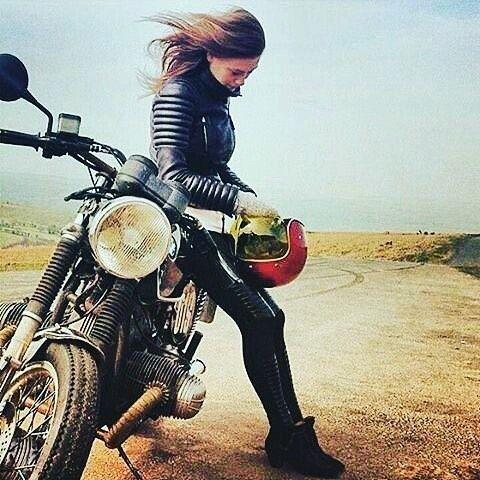 Girls on Motorcycles not pin-ups