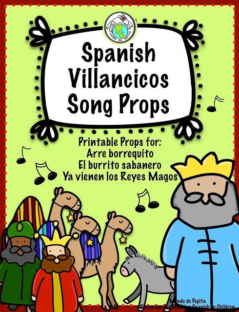 Villancicos Song Props for Christmas Movement Fun!