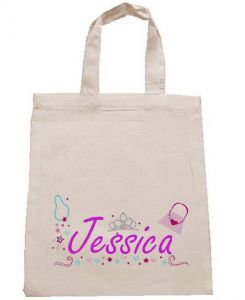Personalised Cotton Tote Party Bag - Princess