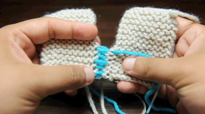 Show Garter Stitch Knitting : How to Knit Grafting Garter Stitch Knitting Pinterest Garter stitch and...