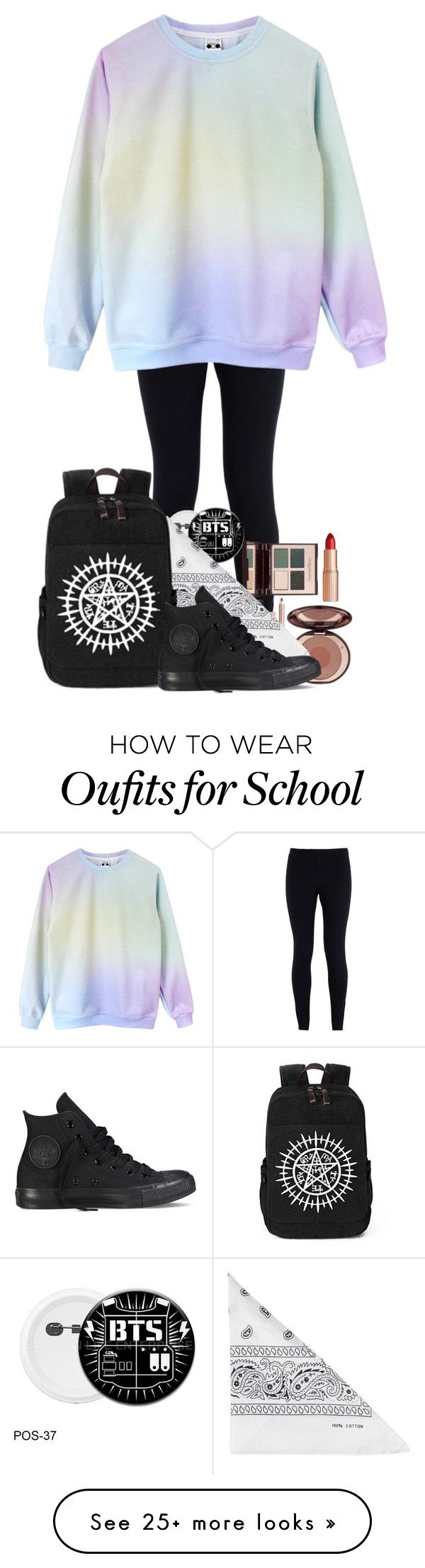 """""""Untitled #356"""" by londoner6401 on Polyvore featuring NIKE, Charlotte Tilbury, NLY Accessories and Converse"""