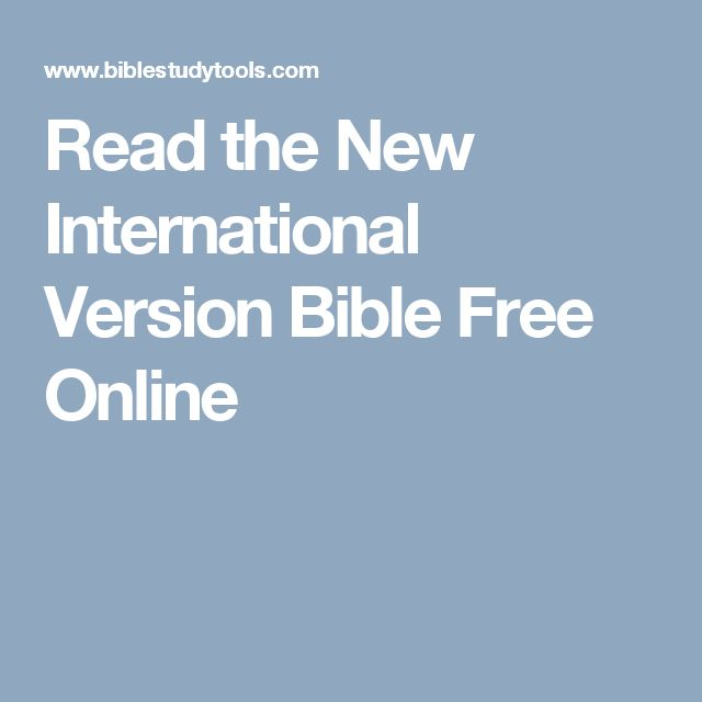 Read the New International Version Bible Free Online